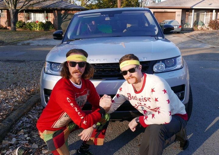 <p>These are my brothers. Neither one of them is a runner, but boy did they have fun taking over my Instagram account while I ran a marathon. This was one of about 18 pictures they posted during the race. </p>