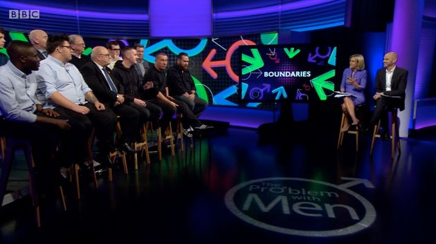 12 Angry Men: The panel alongside hosts Evan Davis and Emily