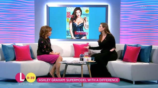Ashley Graham Talks To Lorraine Kelly About The Rise Of Body Diversity In The Fashion