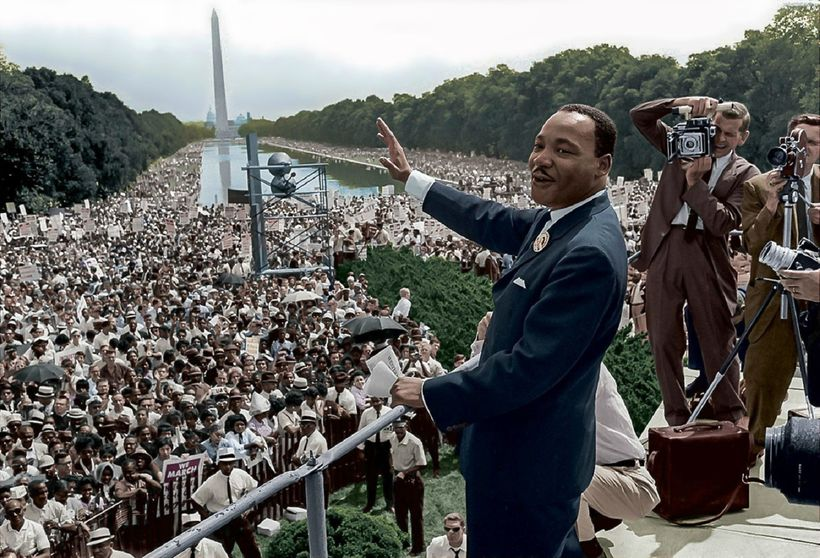 File: Martin Luther King, Jr I Have a Dream Speech Lincoln Memorial.jpg