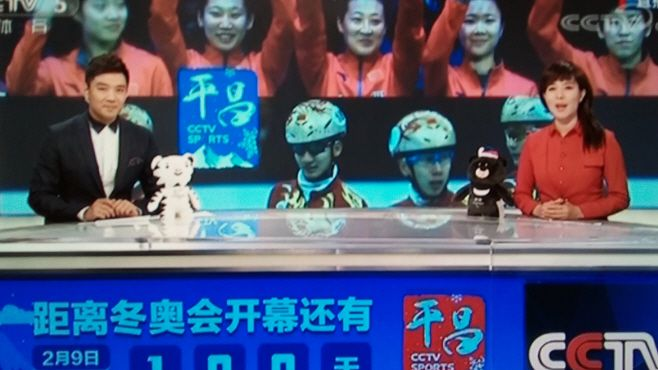 A special program on PyeongChang Winter Olympic Games, which was aired on China's CCTV on Wednesday. It proves that the H