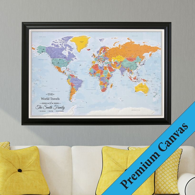 Push pin travel maps the perfect gift for a traveler huffpost download gumiabroncs Images