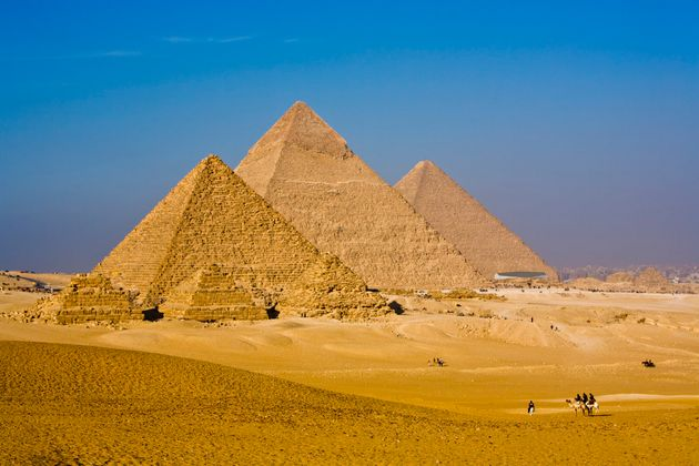 The Great Pyramid soars to a height of 479