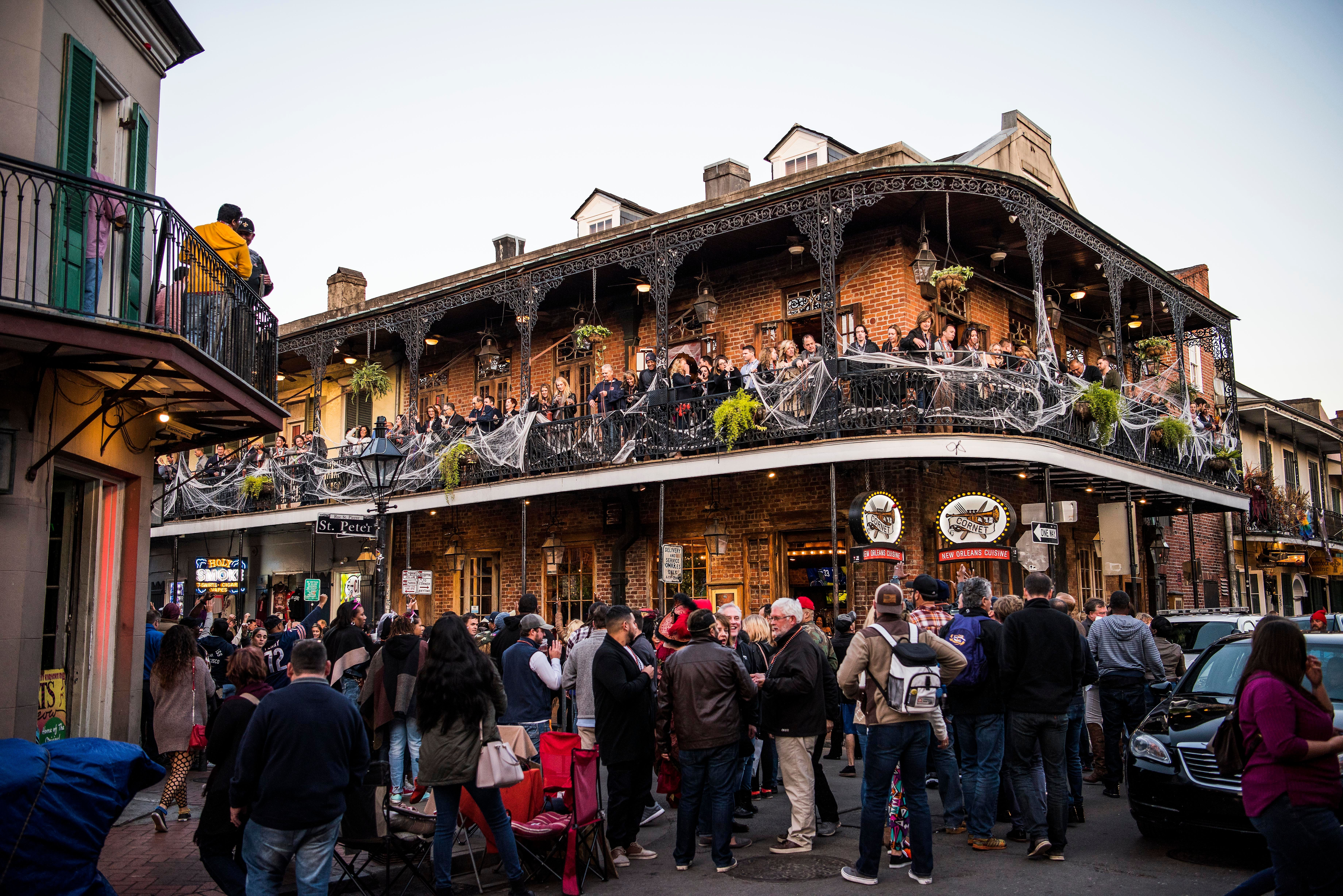 NEW ORLEANS, LA - OCTOBER 28: People walk aourd the French Quarter in New Orleans, Louisiana, on Oct. 28, 2017. (Photo by Damon Dahlen/HuffPost) *** Local Caption ***