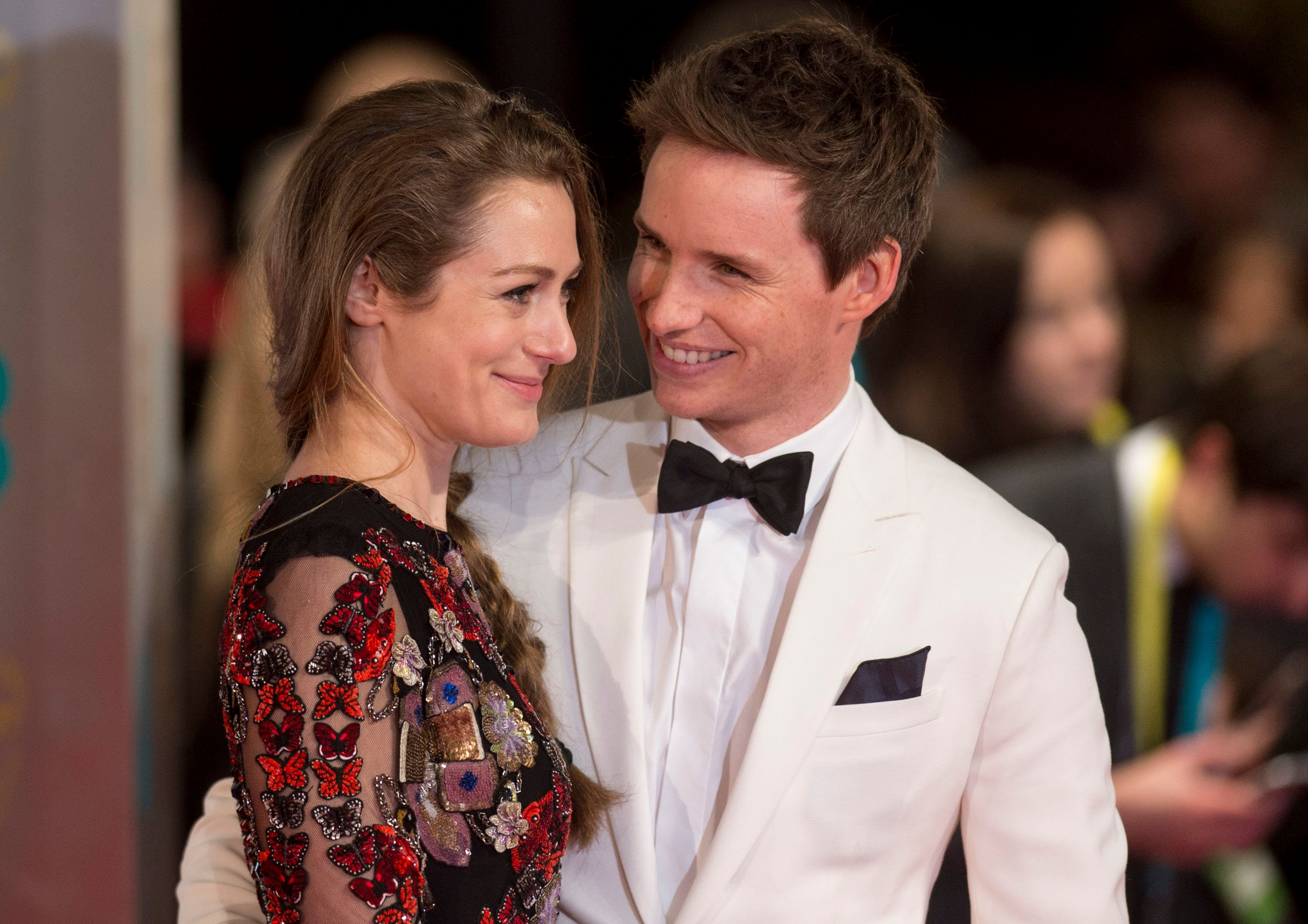 LONDON, ENGLAND - FEBRUARY 12:  Hannah Bagshawe and Eddie Redmayne  attend the 70th EE British Academy Film Awards (BAFTA) at Royal Albert Hall on February 12, 2017 in London, England.  (Photo by Mark Cuthbert/UK Press via Getty Images)