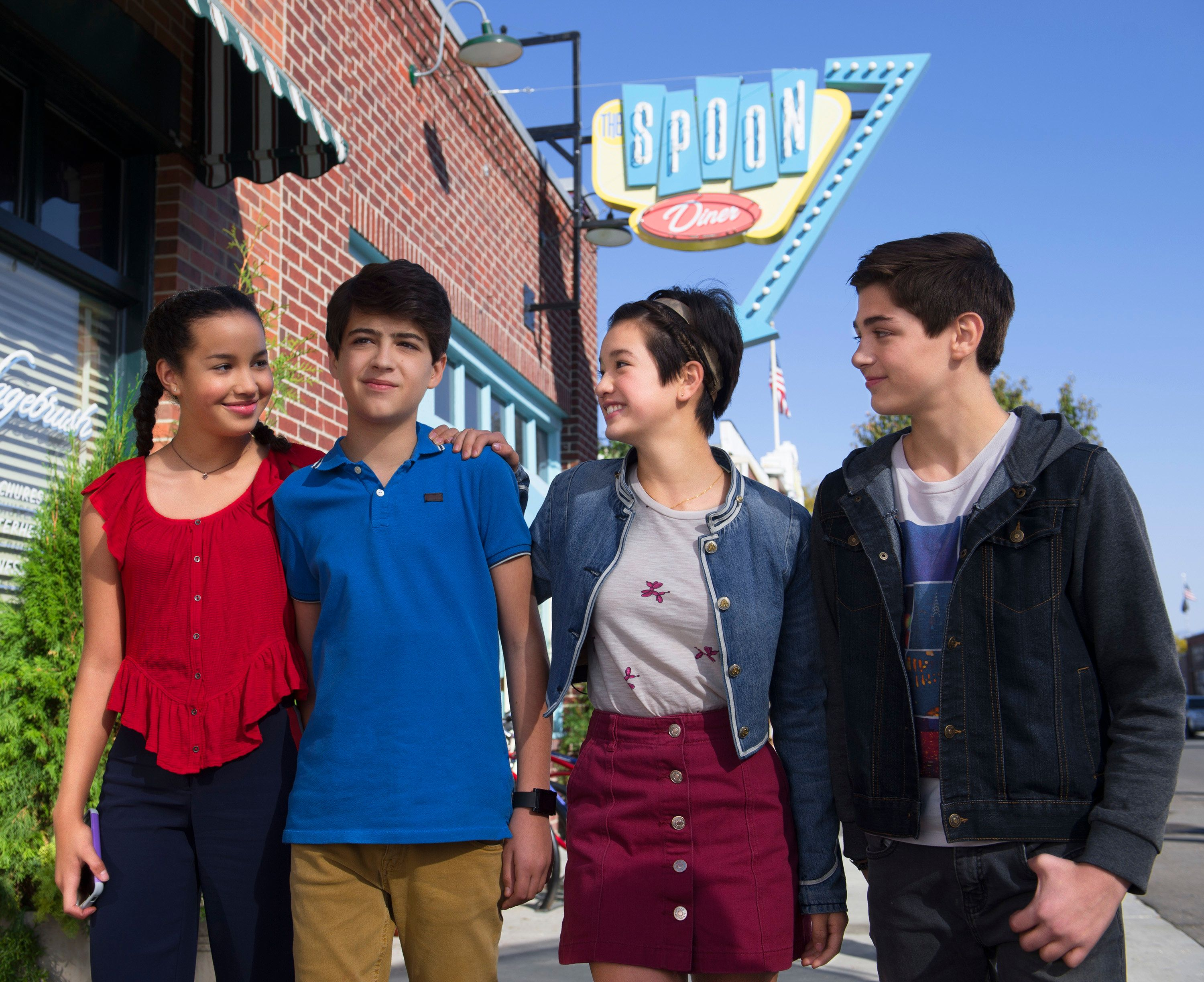 ANDI MACK - In 'Andi Mack,' a series about a 13 year-old girl and her friends each figuring out who they are, the teen characters model inclusion and respect for others. (Fred Hayes/Disney Channel via Getty Images)