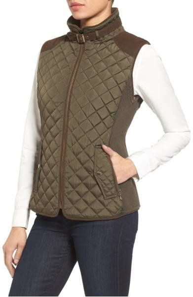 "33% off from $118. Get it <a href=""https://shop.nordstrom.com/s/gallery-quilted-vest-with-faux-suede-trim-regular-petite/4358"