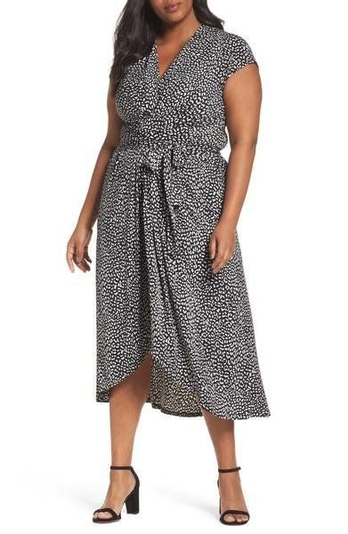 "33% off from $135. Get it <a href=""https://shop.nordstrom.com/s/michael-michael-kors-cheetah-wrap-midi-dress-plus-size/475072"