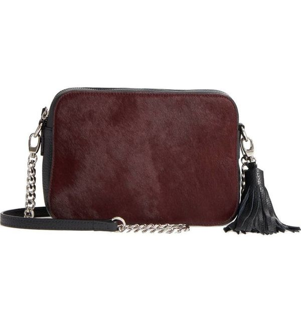 "40% off from $99. Get it <a href=""https://shop.nordstrom.com/s/nordstrom-ella-leather-genuine-calf-hair-crossbody-bag/4816582"