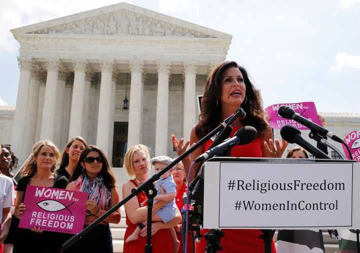 Penny Nance celebrates a Supreme Court ruling against abortion clinics in June 2014.