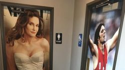 Restaurant Uses Pre- And Post-Transition Caitlyn Jenner Photos As Bathroom