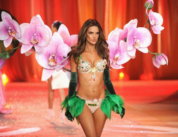 Victoria's Secret Angel Alessandra Ambrosio walks the runway wearing the Victoria's Secret's Million-Dollar Fantasy Bra durin