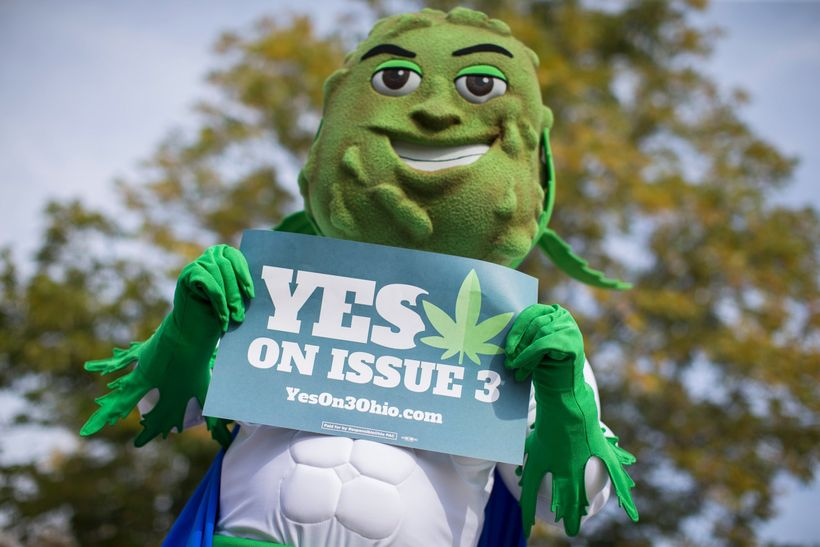 "Buddie, the ""gender neutral"" marijuana legalization mascot"