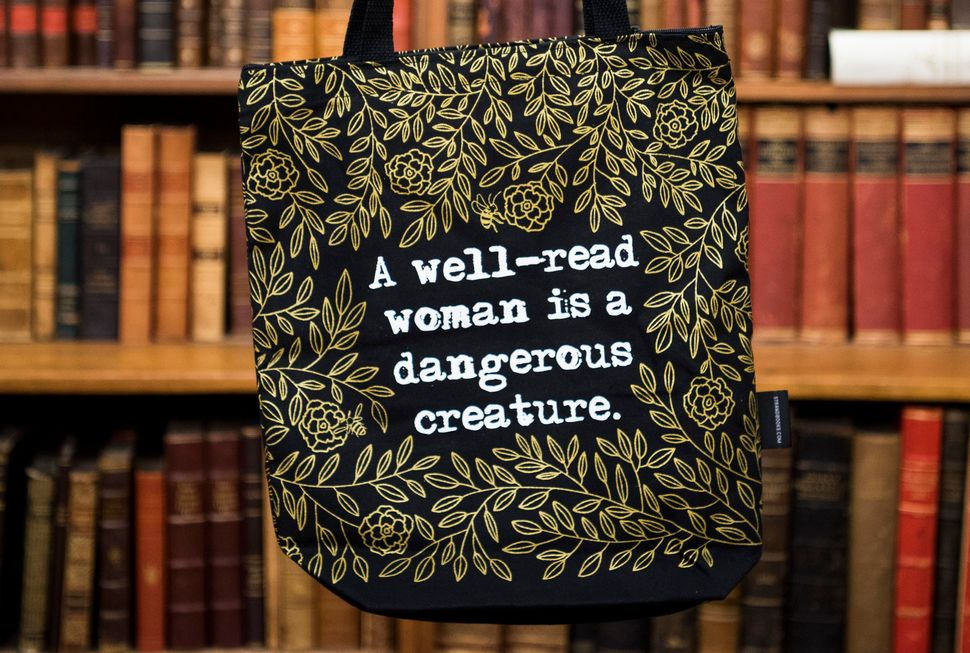"There are hidden bees in MacDonald's ""Well Read Woman"" tote."