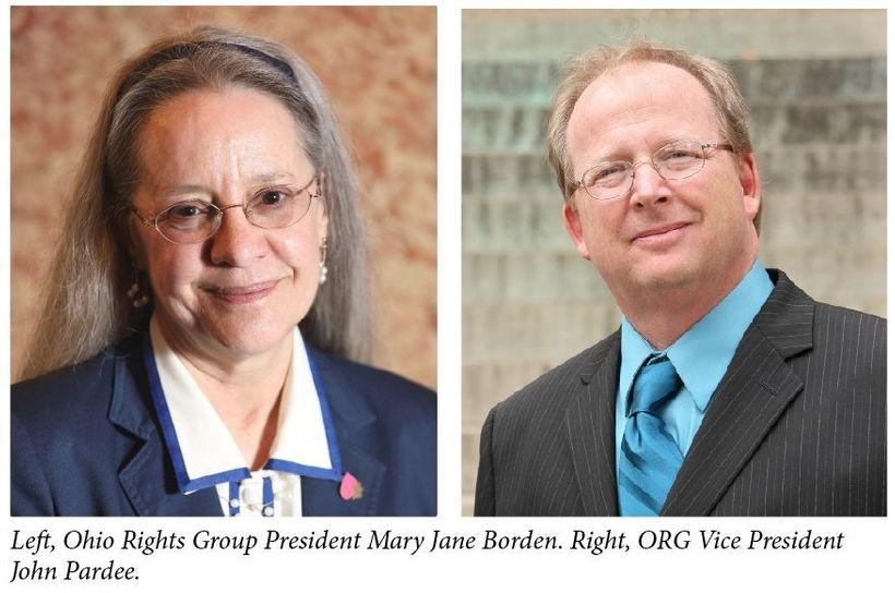 Mary Jane Borden and John Pardee of the Ohio Rights Group