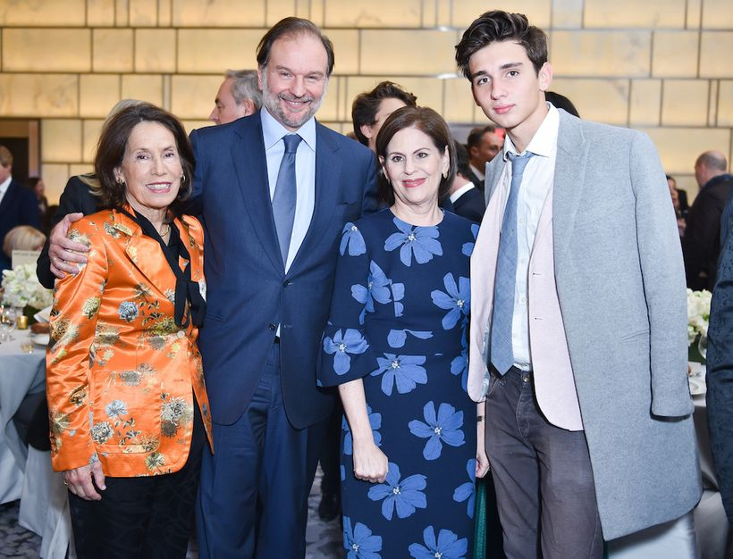From left to right: H.R.H. Princess Marina of Greece, Nicolas Mirzayantz, Linda G. Levy, and Tigran Mirzayantz in the Onyx Ro
