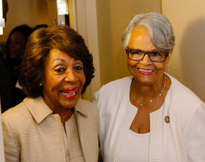 <em>Congresswoman Maxine Waters and Congresswoman Bonnie Watson-Coleman</em>