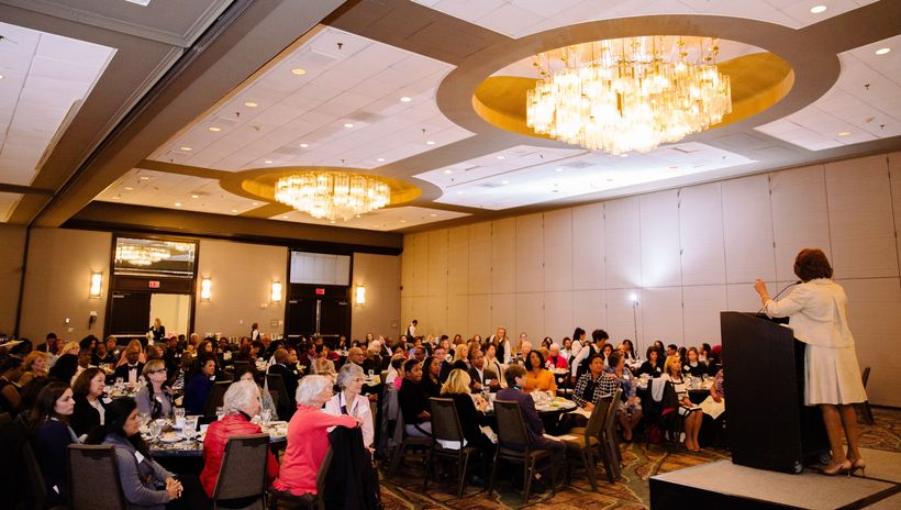 Maxine Waters presenting at Bonnie Watson-Coleman's 2017 Women's Power Luncheon