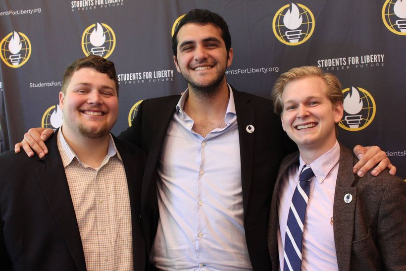 SFL Campus Coordinators Garett Roush, Jorge Jraissati, and Bradley Lake at the organization's leadership retreat in Nashville