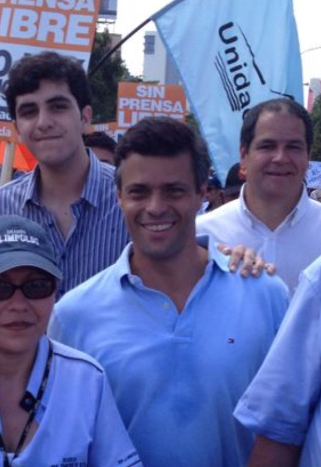 A young Jorge with Leopoldo Lopez, the opposition politician turned famed political prisoner in Venezuela.