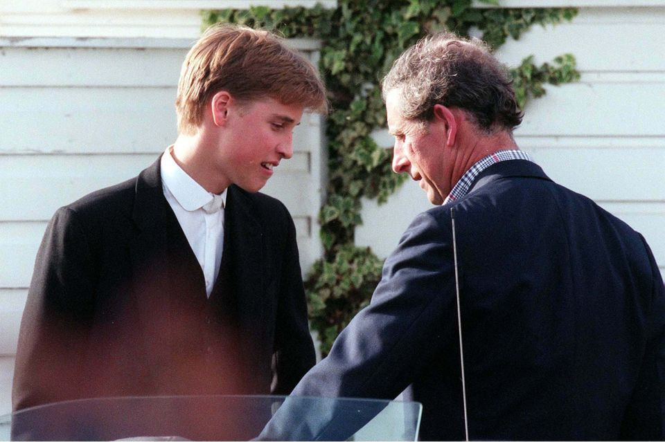 Prince Charles and his son William, Duke of Cambridge, seen in 1998. That same year, Charles is said...