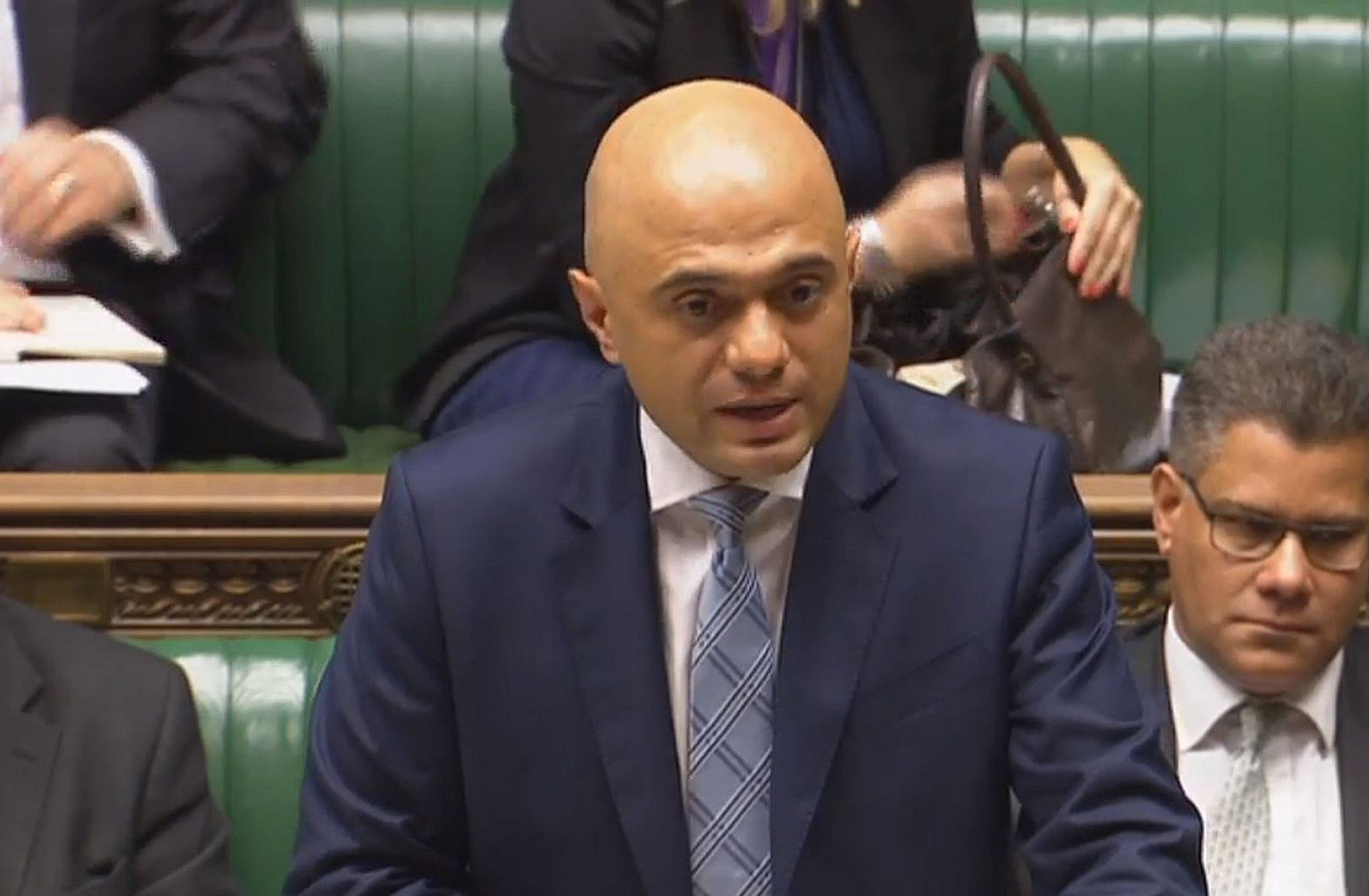 Sajid Javid was questioned in the Commons this week.