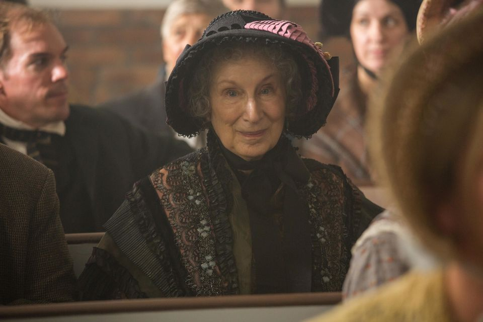 Margaret Atwood in a cameo appearance in