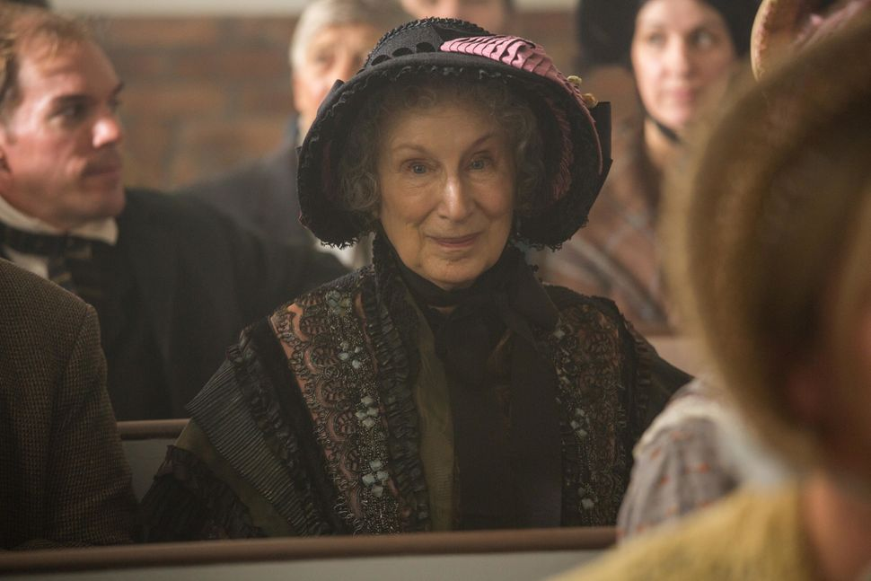 "Margaret Atwood in a cameo appearance in ""Alias Grace."""