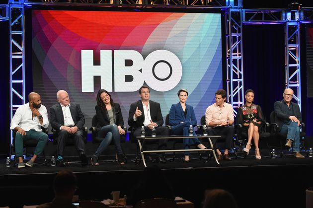The 'Westworld' team at a media event last