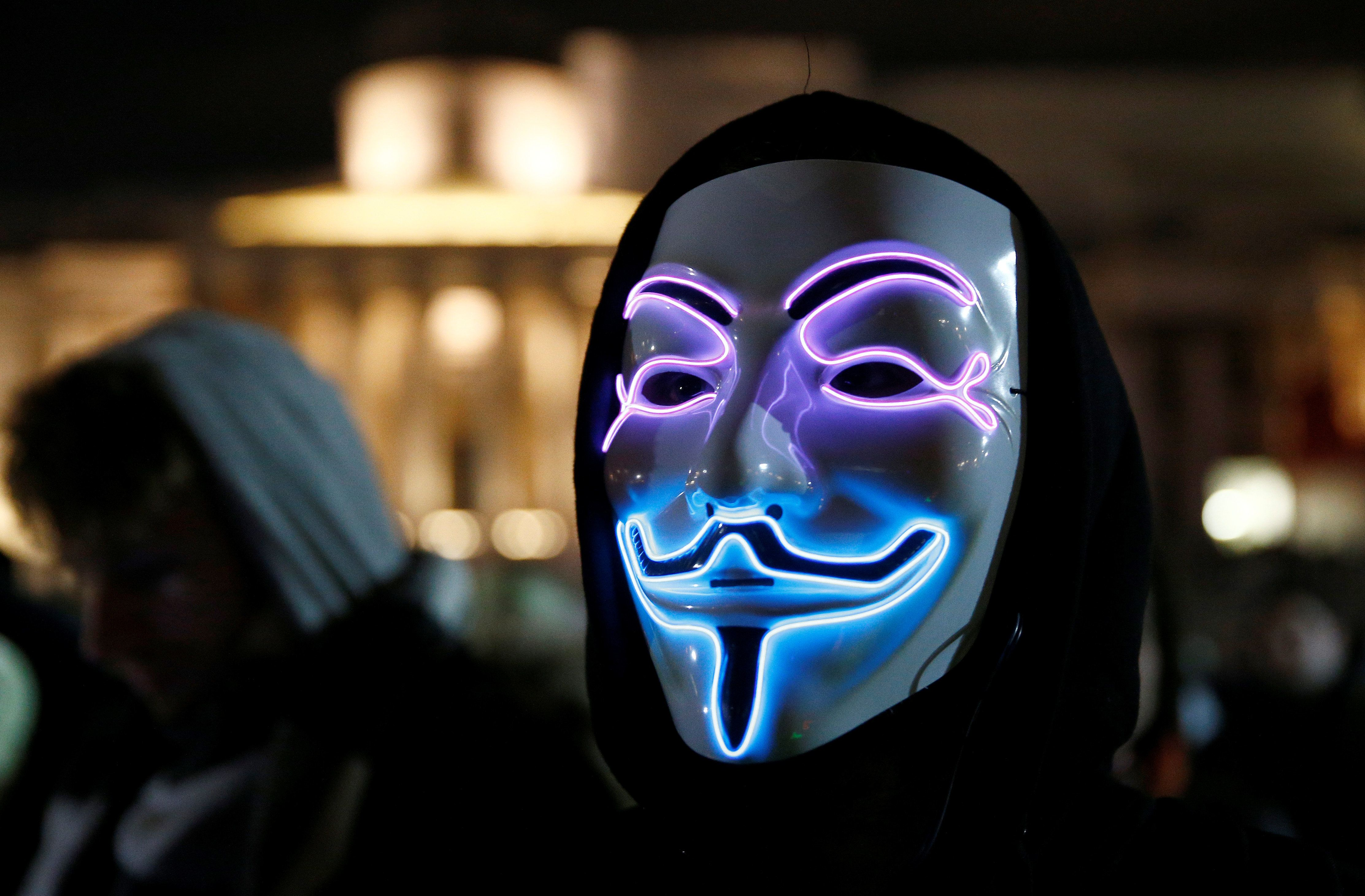 <strong>Guy Fawkes masks have been worn during the march since 2012&nbsp;</strong>