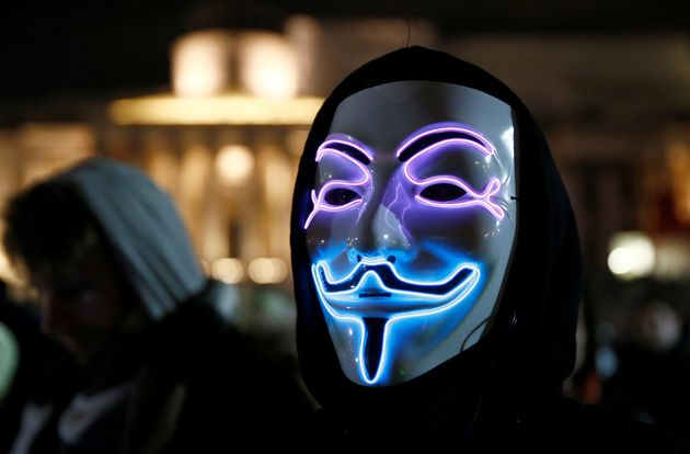 Guy Fawkes masks have been worn during the march since