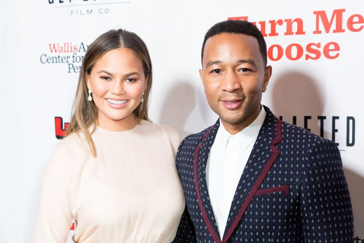 Chrissy Teigen, pictured with husband John Legend on Oct. 19, left one ginormous gratuity.