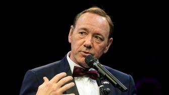 LONDON, ENGLAND - APRIL 19:  Kevin Spacey gives a speech at The Old Vic Theatre for a gala celebration in his honour as his artistic director's tenure comes to an end on April 19, 2015 in London, England.  (Photo by Samir Hussein/Getty Images)