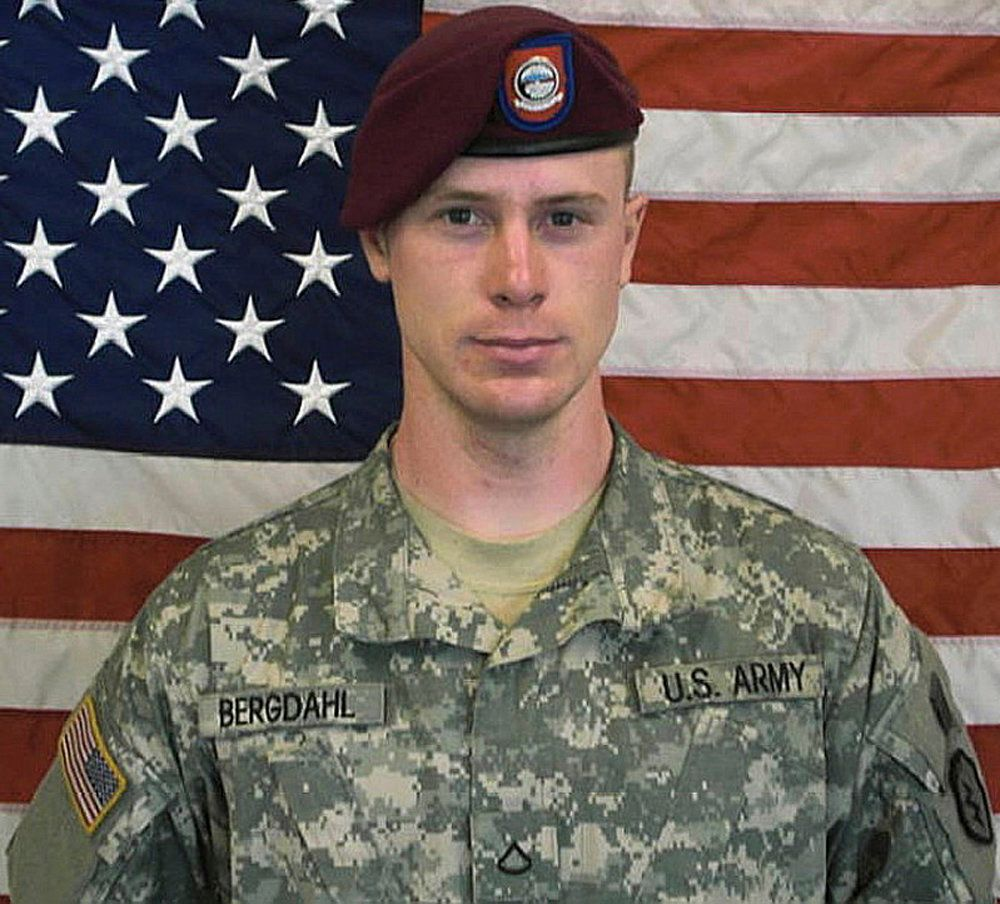 U.S. Army Sergeant Bowe Bergdahl is pictured in this undated handout photo provided by the U.S. Army.    U.S. Army/Handout via Reuters THIS IMAGE HAS BEEN SUPPLIED BY A THIRD PARTY. IT IS DISTRIBUTED, EXACTLY AS RECEIVED BY REUTERS, AS A SERVICE TO CLIENTS. FOR EDITORIAL USE ONLY. NOT FOR SALE FOR MARKETING OR ADVERTISING CAMPAIGNS