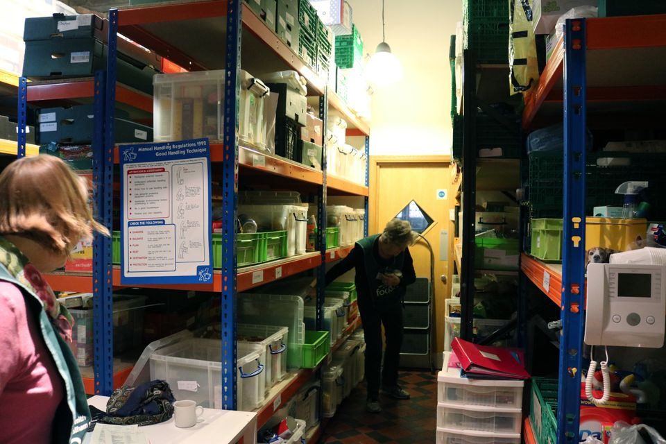The Hammersmith and Fulham Foodbank near Parsons Green, SouthWest London, is housed within a church...