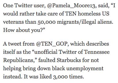 A Los Angeles times article from January referred to two consecutive Russian troll farm accounts, @Pamela_Moore13 and @TEN_GOP.