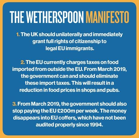 The Wetherspoon Manifesto