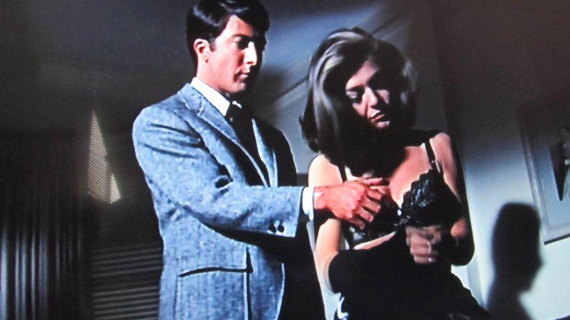 <em>Hoffman &quot;sexually assaults&quot; Anne Bancroft while shooting &quot;The Graduate.&quot; </em>