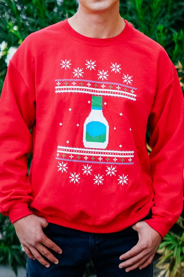 In recent years, companies have started using ugly Christmas sweaters to promote their product (and maybe a little peace and