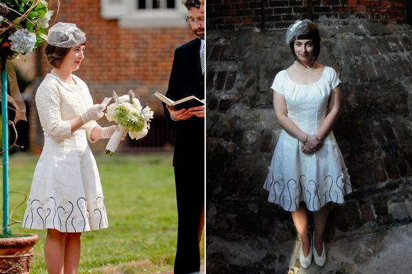 """""""Yes, I made my own wedding dress. After making[my sister-in-law]<a href=""""http://brooksann.com/retrospective-kati"""