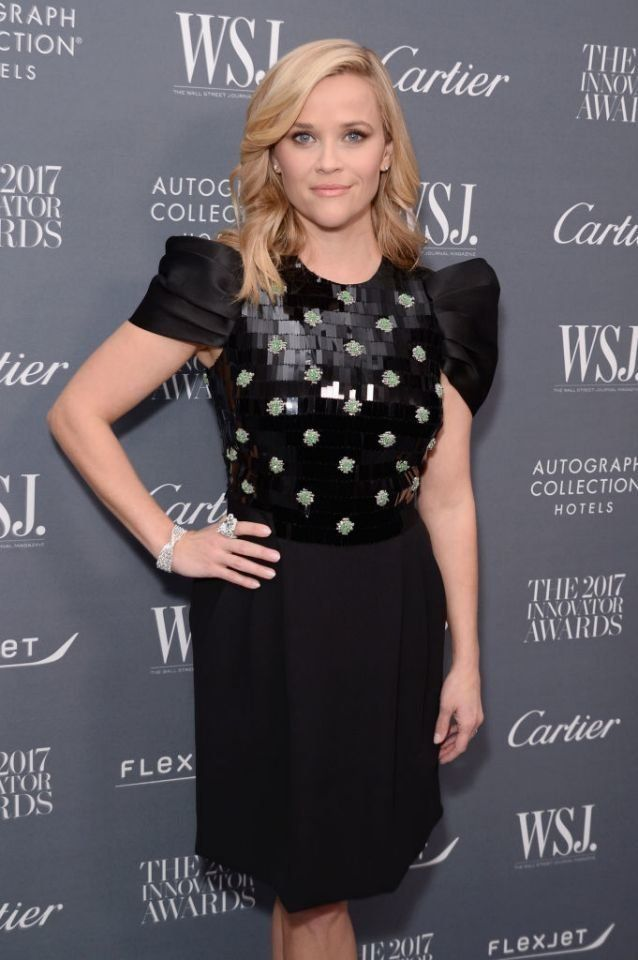 Reese Witherspoon is recognized at the WSJ. Magazine 2017 Innovator Awards.