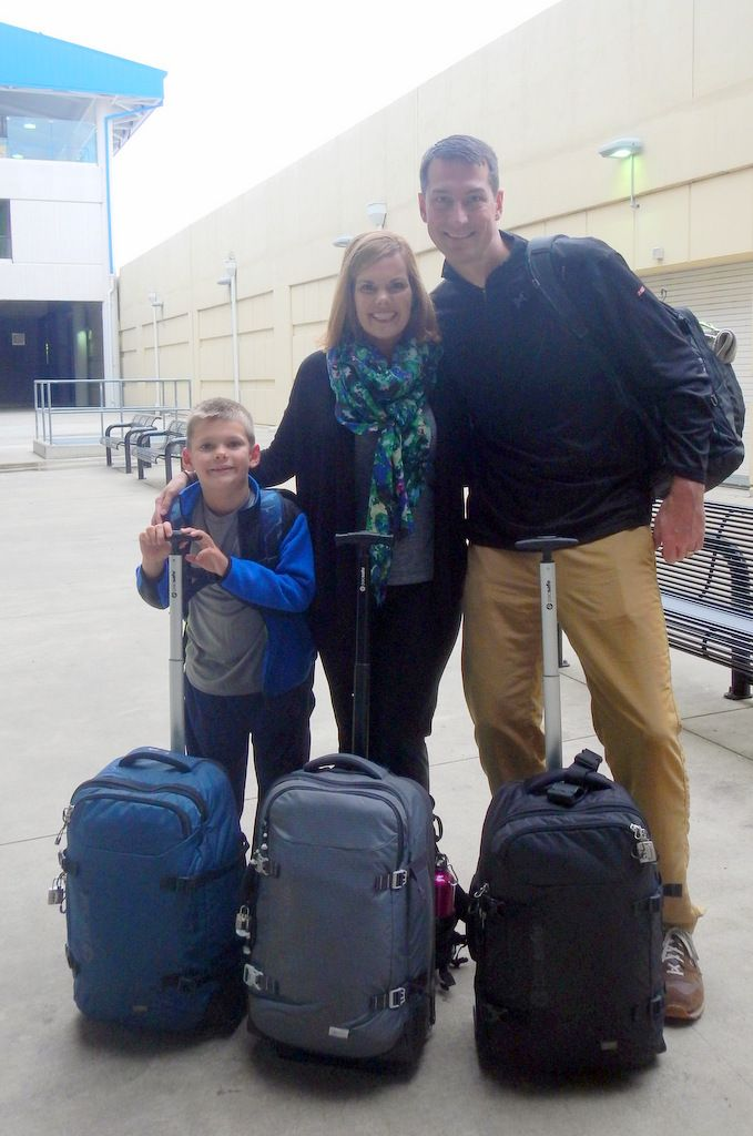 Our Pacsafe suitcases were the perfect size for our journey.