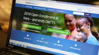 MIAMI, FL - NOVEMBER 01: A computer screen shows the enrollment page for the Affordable Care Act on November 1, 2017 in Miami, Florida. The open enrollment period to sign up for a health plan under the Affordable Care Act started today and runs until Dec. 15.  (Photo by Joe Raedle/Getty Images)
