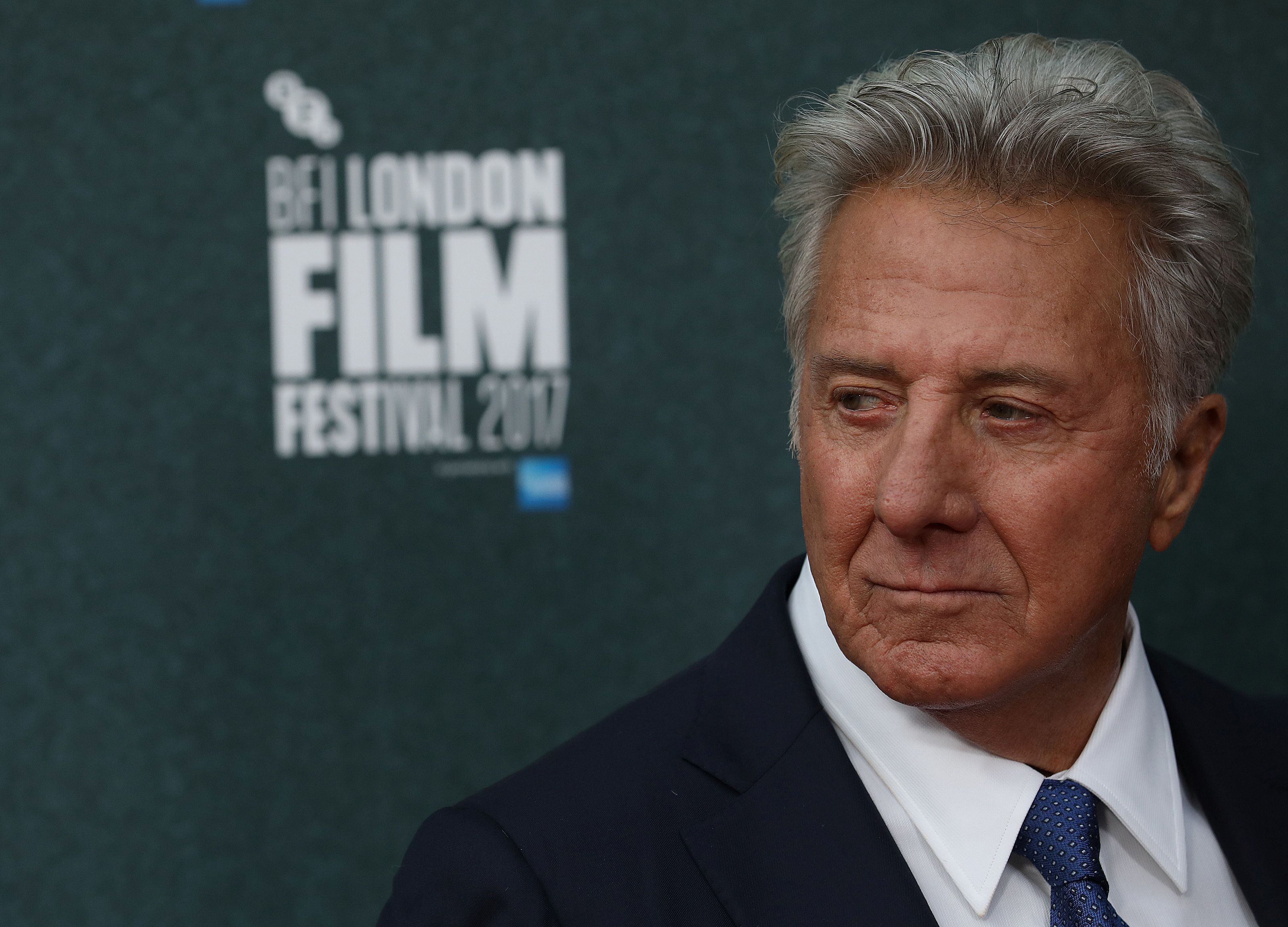 Dustin Hoffman arrives for the UK premiere of The Meyerowitz Stories during the British Film Festival in London earlier this month