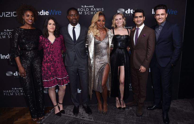 IndiWire Honors Award Recipients (L-R) Issa Rae, Abbi Jacobson, Sterling K. Brown, Mary J. Blige, Diane Kruger, Kumail Nanjia