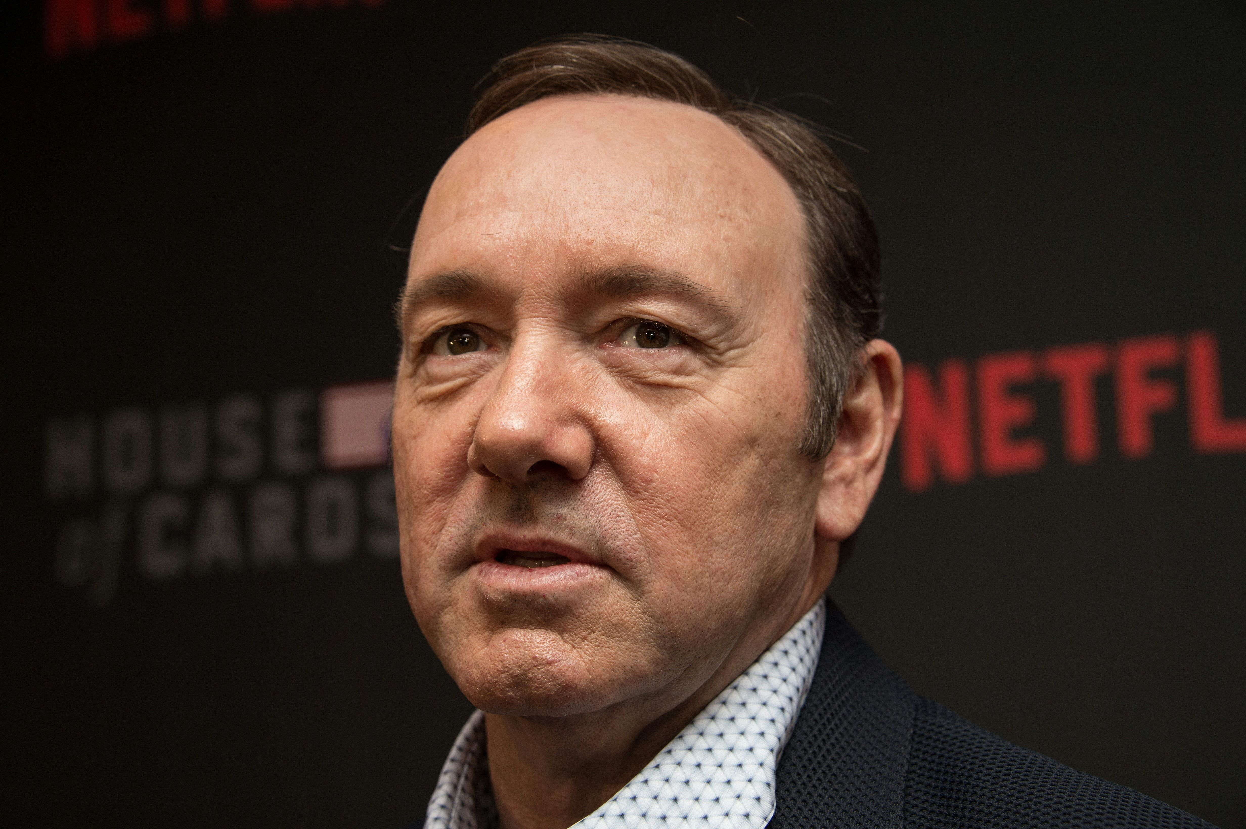 """Spacey at the season 4 premiere of the Netflix show """"House of Cards."""""""