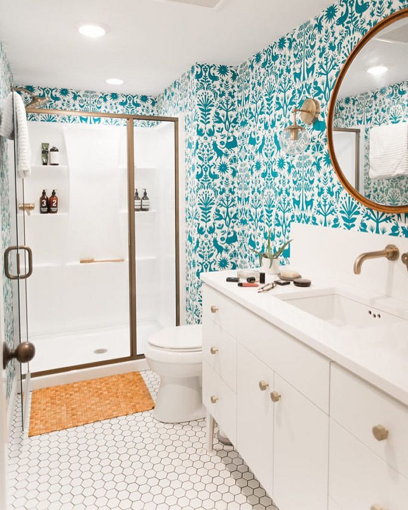 How To Use Wallpaper And Tiles Together | HuffPost