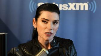NEW YORK, NY - NOVEMBER 03:  (EXCLUSIVE COVERAGE) Julianna Margulies visits EW at SiriusXM Studios on November 3, 2017 in New York City.  (Photo by Slaven Vlasic/Getty Images)