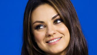 "Cast member Mila Kunis speaks during the ""Third Person"" news conference at the 38th Toronto International Film Festival in Toronto, September 10, 2013.    REUTERS/Mark Blinch (CANADA - Tags: ENTERTAINMENT HEADSHOT)"