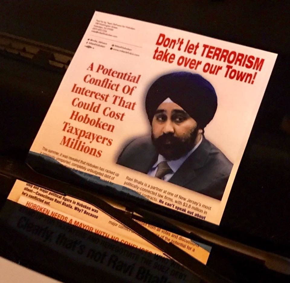 Racist Flyer Paints Sikh Mayoral Candidate As A
